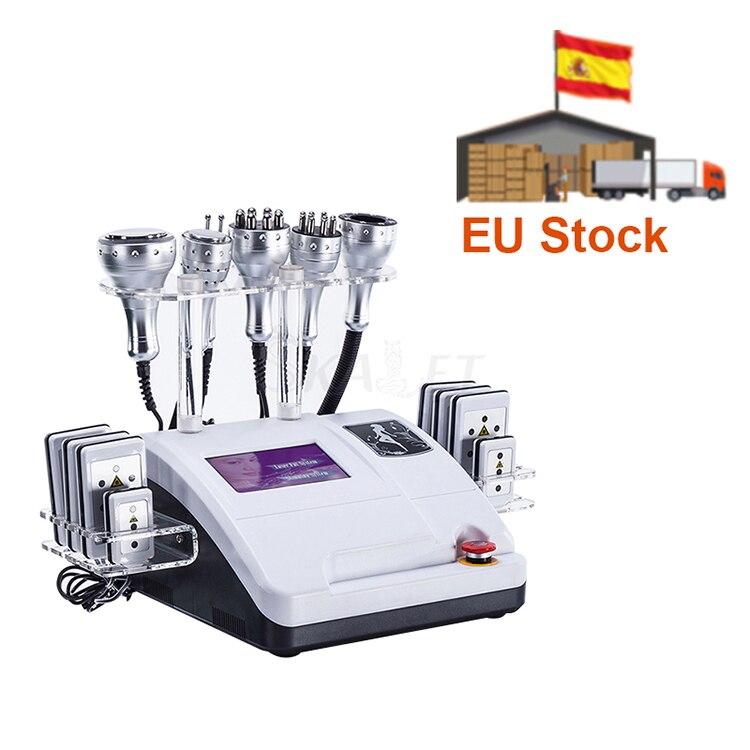 آلة إزالة الدهون بالتجويف بالموجات فوق الصوتية 40 كيلو 5/6/8 في 1 ، جهاز تجميل RF لإزالة الدهون وشد بشرة الجسم