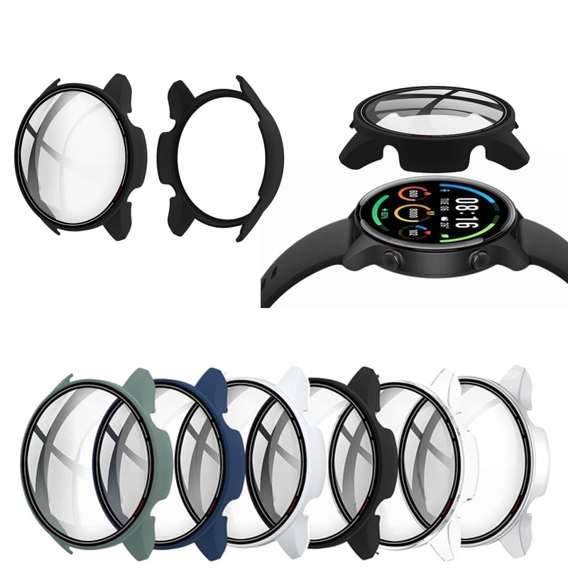Hard Edge Screen Glass Protector Case Shell Frame For Xiaomi Mi Watch Color Sports Version Smart Wat