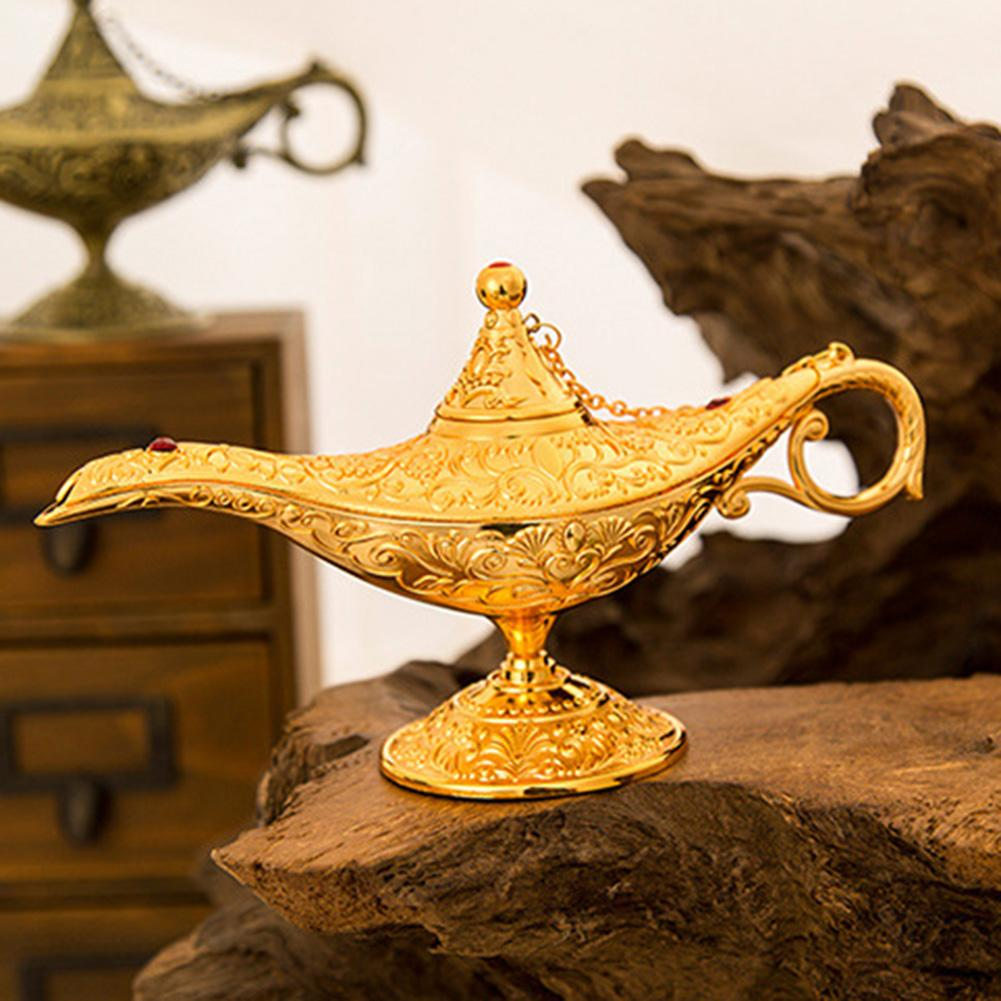 Vintage Imitation Aladdin Wishing Teapot Collection Home Decoration Christmas Ornament