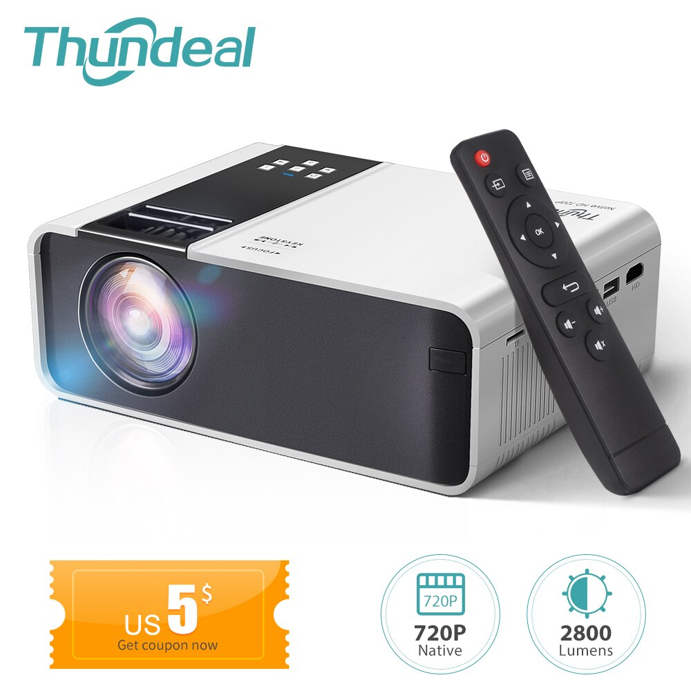 ThundeaL HD Mini Projector TD90 Native 1280 x 720P LED Android WiFi Projector Video Home Cinema 3D S
