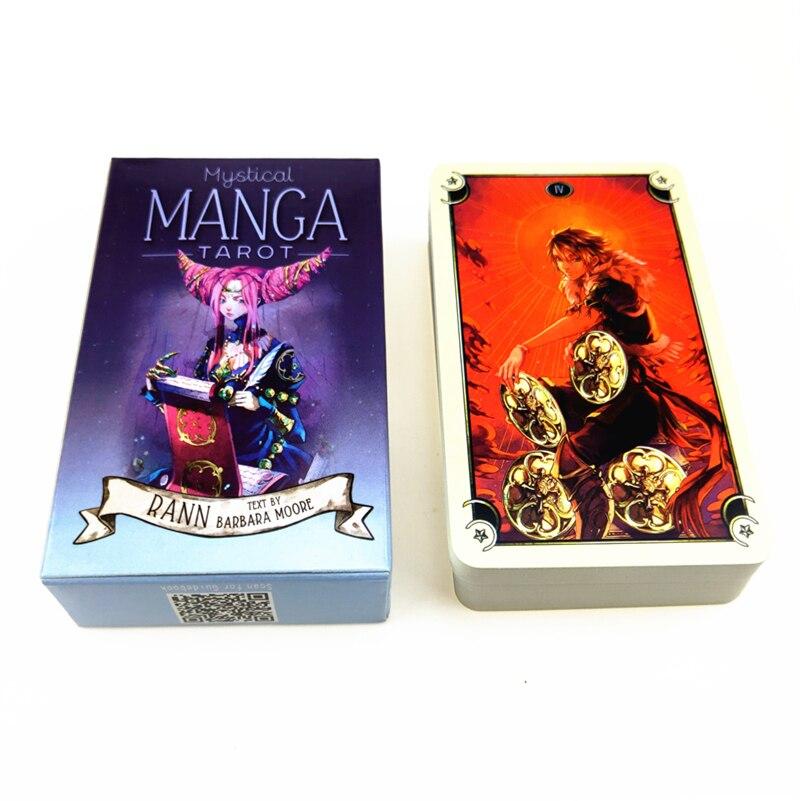 Карты Таро мистические манга, 78 шт., Карты Таро для вечеринки, принадлежности для английской настольной игры вечерние игральные карты