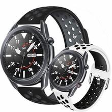 Bracelet en Silicone, pour samsung galaxy watch 3, active 2, 45mm 41mm, pour amazfit bip gts gtr, huawei watch gt 2e