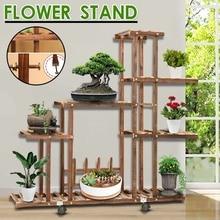 5 niveaux en bois fleur support plante support Multi fleur support étagères bonsaï présentoir cour jardin Patio balcon fleur Stands