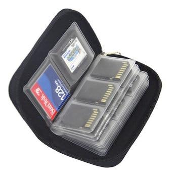 Sac de rangement pour cartes mémoire, étui de transport pour 22 emplacements pour CF/SD/Micro SD/SDHC/MS/DS, accessoires de jeu