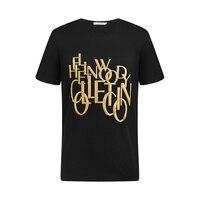 Hellen&Woody 2021 SS Luxury Brand Logo 100% Pure Cotton Special Printing Short Sleeve Slim Fit Sport Causal  Men t-shirt Top