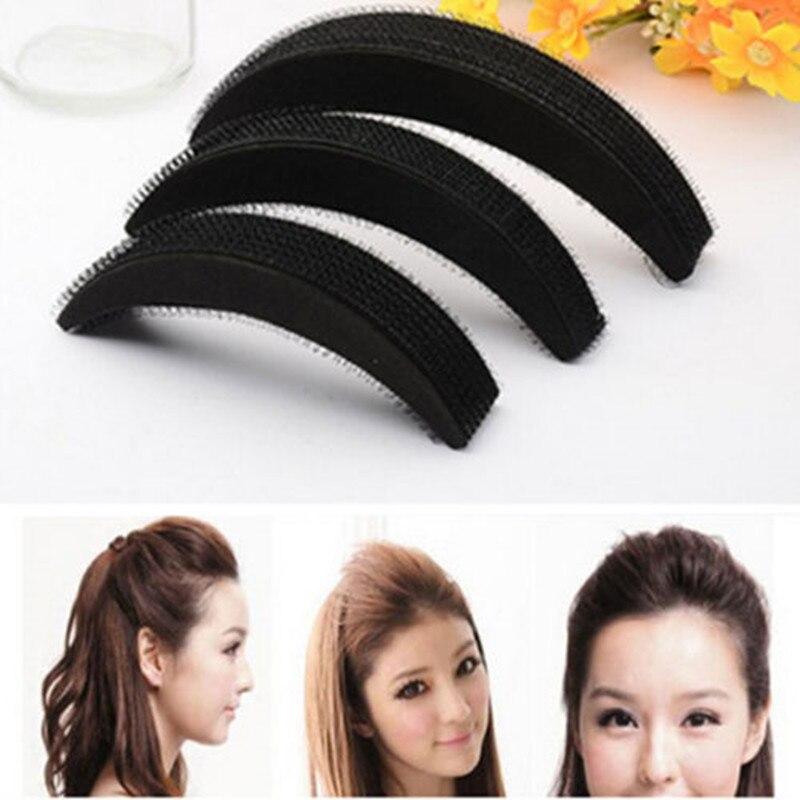 A set of 3 Hair Pillow Hair Rolls With Foam Pillow and Magic Stick Makeup Tool