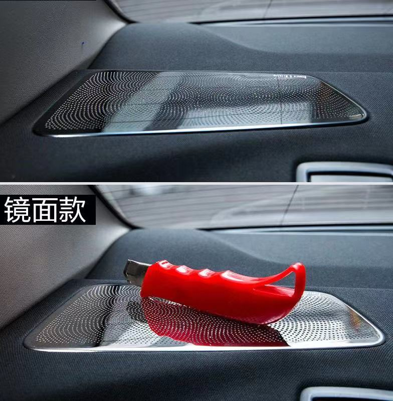 Rear Seat Stereo Speaker Horn Audio Sound Loudspeaker Cover Trim Fit For BMW 5 Series G30 530I 2017 - 2021 Stainless Steel enlarge
