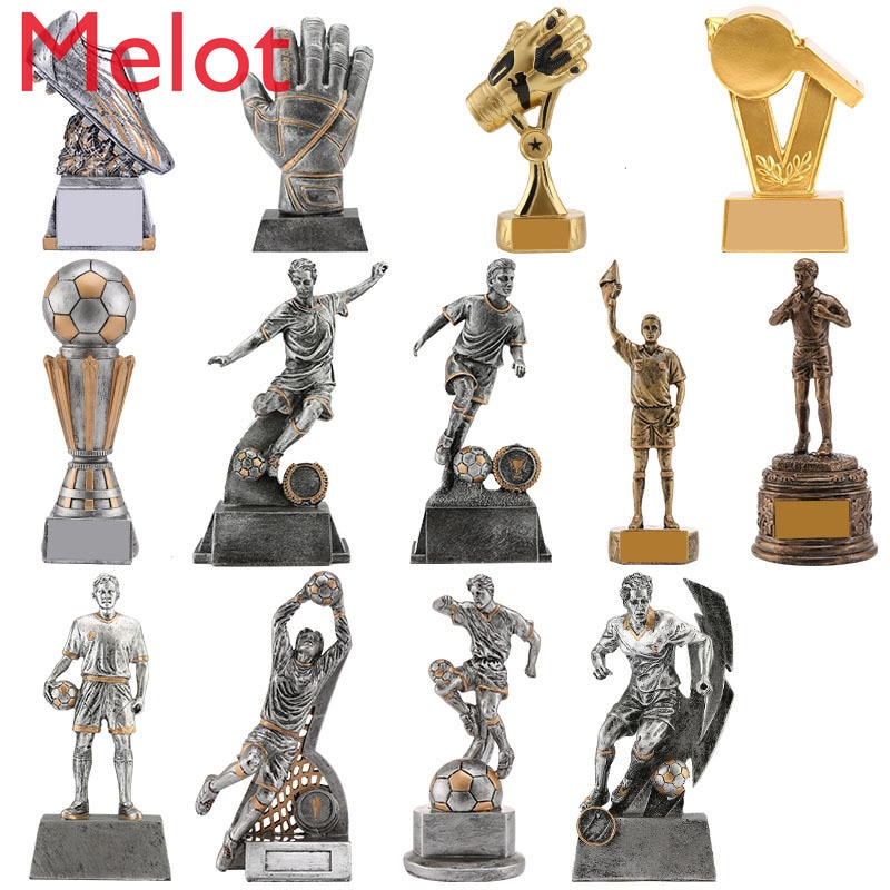 World Football Trophy Golden Boot Golden Ball Gold Whistle FIFA World Cup Model Shooter Resin Crystal