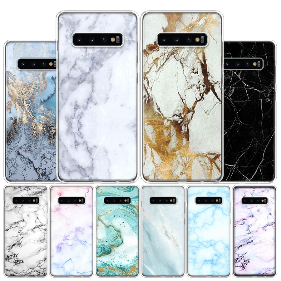 Granite Scrub Marble Stone Phone Case For Samsung Galaxy S10 S20 Ultra Note 10 9 8 S10E S9 S8 S7 Edge J4 J6 J8 Plus + Cover Coqu