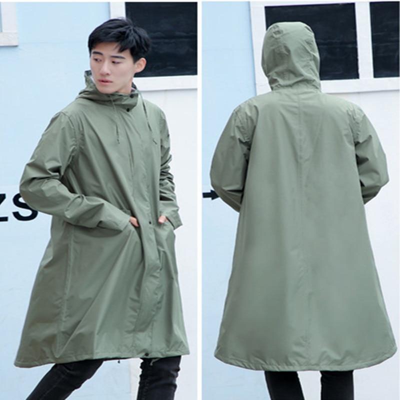 Cremallera + botón impermeable mujer hombre ponchos de abrigo chaqueta chubasquero mujer Impermeables