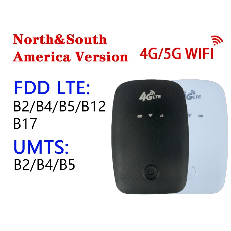 جهاز توجيه 4G 4G LTE MiFi محمول MiFi 150Mbps موبايل واي فاي هوت سبوت 2100MAh مع فتحة للبطاقات Sim