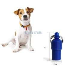 Étiquette de stockage chien chat chiot   Identification nom et adresse, Tube de baril de stockage, Anti-perte de lidentité des animaux domestiques, pendentif couleur bonbon