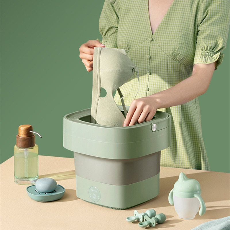 Portable Folding Washing Machine Automatic Mini Underwear Washing Machine Dormitory Wash Panties and Underwear Artifact
