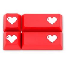 Domikey SA abs double keycap pixel coeur rouge pour oem dsa sa cerise profil poker 87 104 gh60 xd64 xd68 xd84 xd96 xd75 xd87