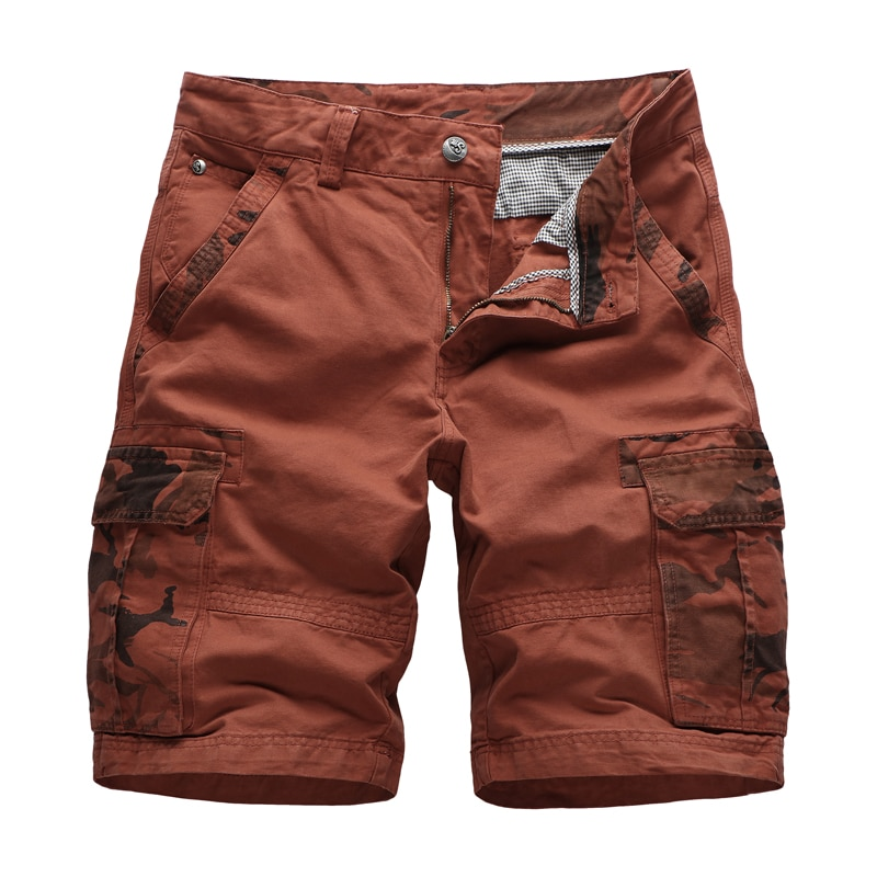 High Quality Camouflage Cargo Shorts Men Casual Military Army Style Beach Shorts Loose Baggy Pocket Shorts Male Trousers men s camouflage style lace up slimming elastic shorts