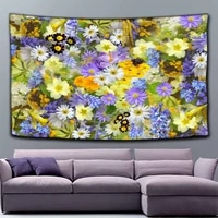 flowers bridge tapestry wall hanging for wedding decor colorful landscape tapestry wall carpet festive beauty tapestry