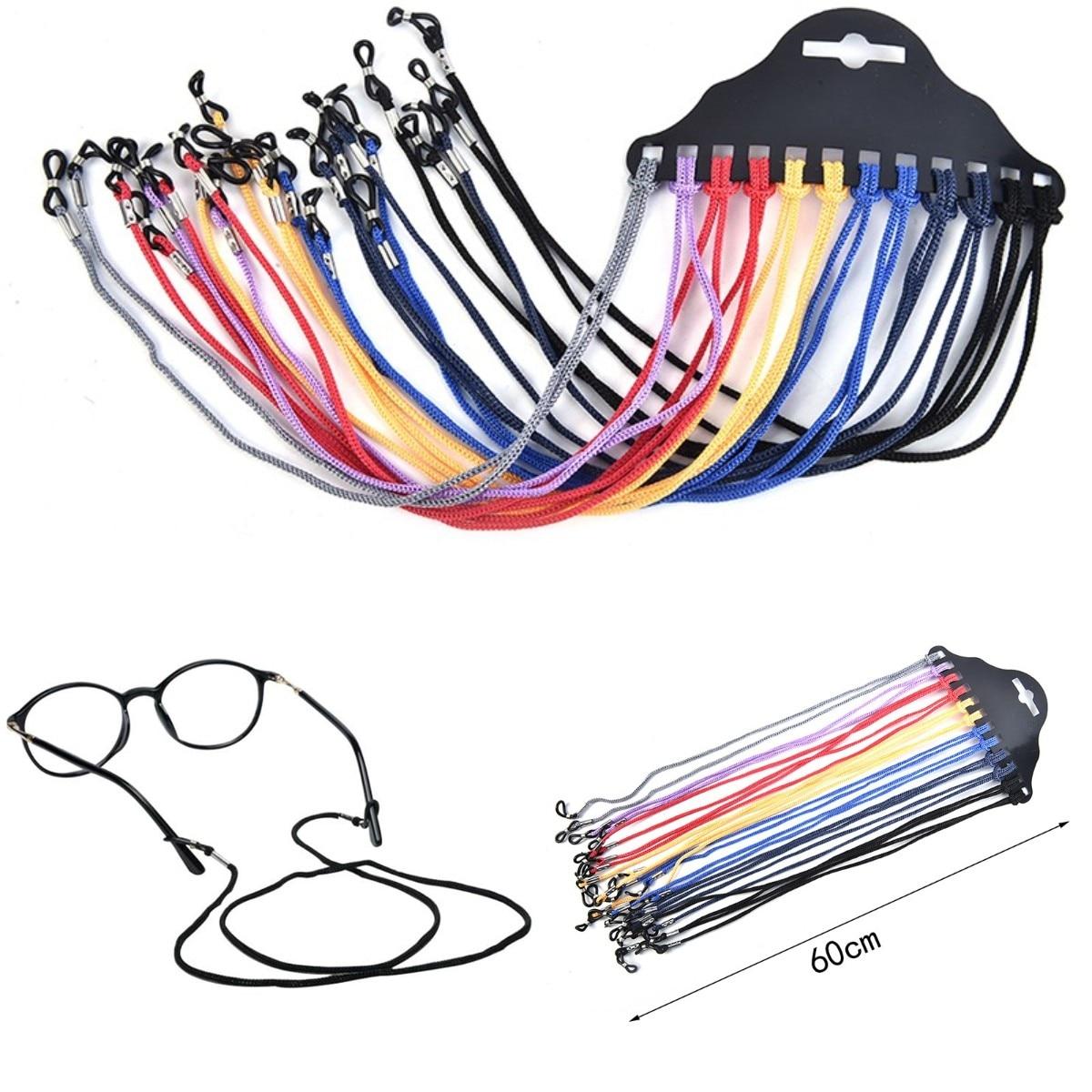 12pcs/Lot Multicolor Nylon Glasses String Cord Holder Sunglasses For Tavel Eyeglasses Lanyard Neck R