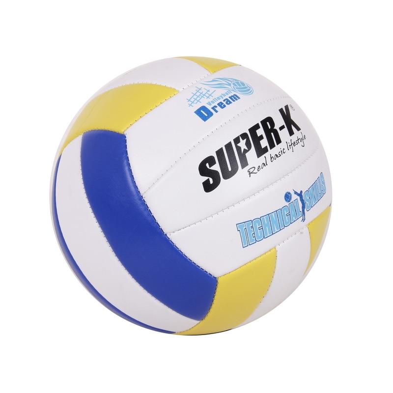 Pelota de voleibol de tamaño 5 para coser, pelota de voleibol de tacto suave, pelota de PVC duradera para entrenamiento, pelota de voleibol de interior al aire libre para estudiantes