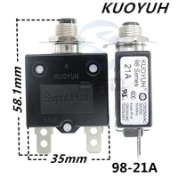 3pcs taiwan kuoyuh 98 series 21a overcurrent protector overload switch