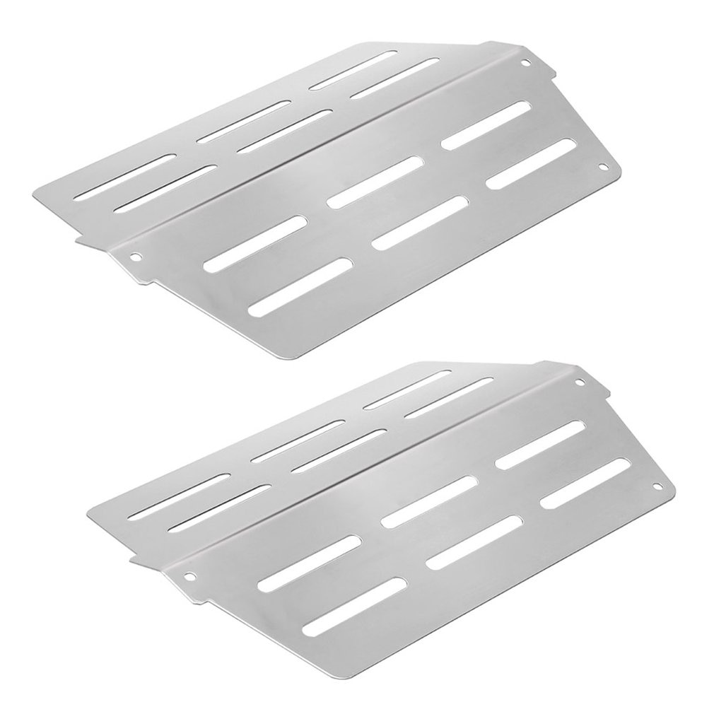 2 pcs Stainless Steel Gas Grill Hot Parts Heat Deflectors Replacement Long Lasting