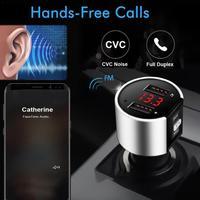 Bluetooth FM-трансмиттер, аудиомодулятор, двойной USB Bluetooth-комплект, зарядное устройство, автомобильный громкая связь, плеер для звонков, быстрый ...