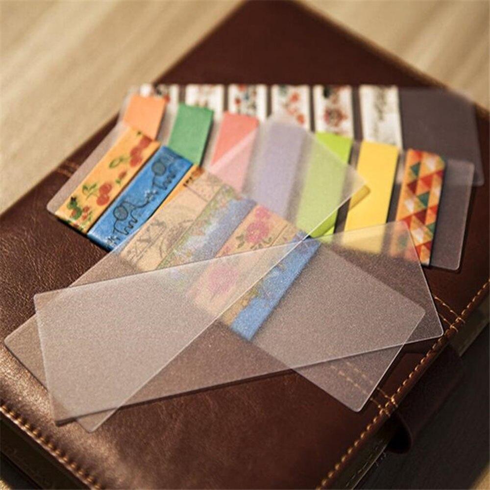 10 штук упак. DIY милые кавайные матовые пвх ленты отдельные карты прекрасные прозрачные васи ленты для школы офисные принадлежности