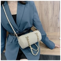 portable small bag autumn and winter new bag 2020 new trendy fashion rhombus chain diagonal shoulder cylinder bag women