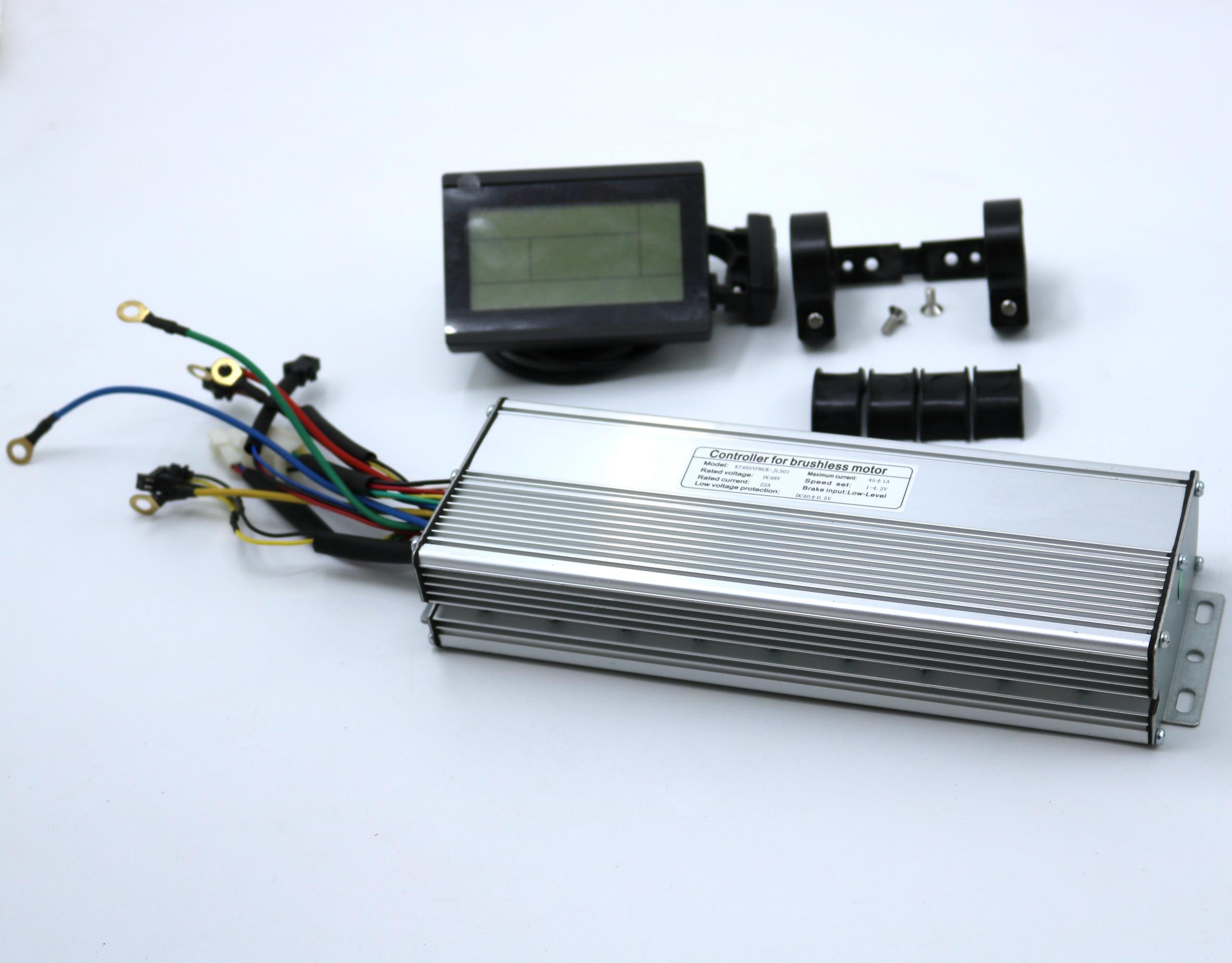 V 1500-2000W 45 48 60amax Brushless DC Controlador Do Motor Ebike LCD3 KUNTENG Display LCD Controlador + KT-LCD3 um Conjunto
