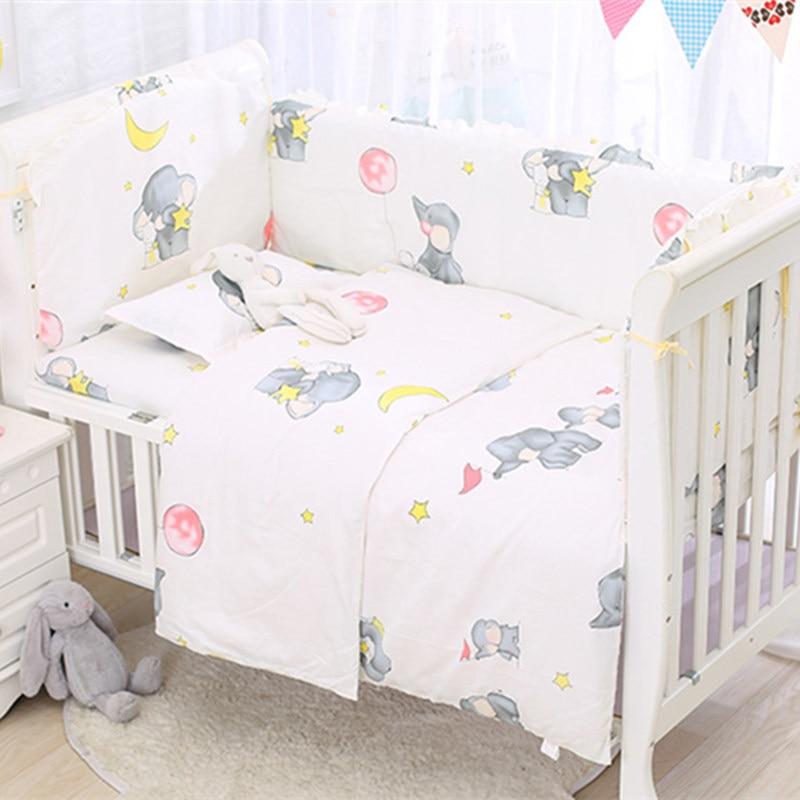 Whashable الاطفال السرير حامي مصدات طقم سرير الطفل s حديثي الولادة سرير طقم سرير الرضع المهد Accessori ورقة المخدة 6 قطعة/المجموعة