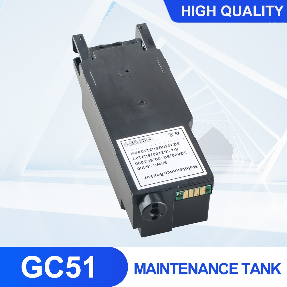 Фото - GC51 Maintenance Tank With Chip Suitable For New RICOH SG3210DNW printer For collecting waste ink ocbestjet maintenance tank resetter for