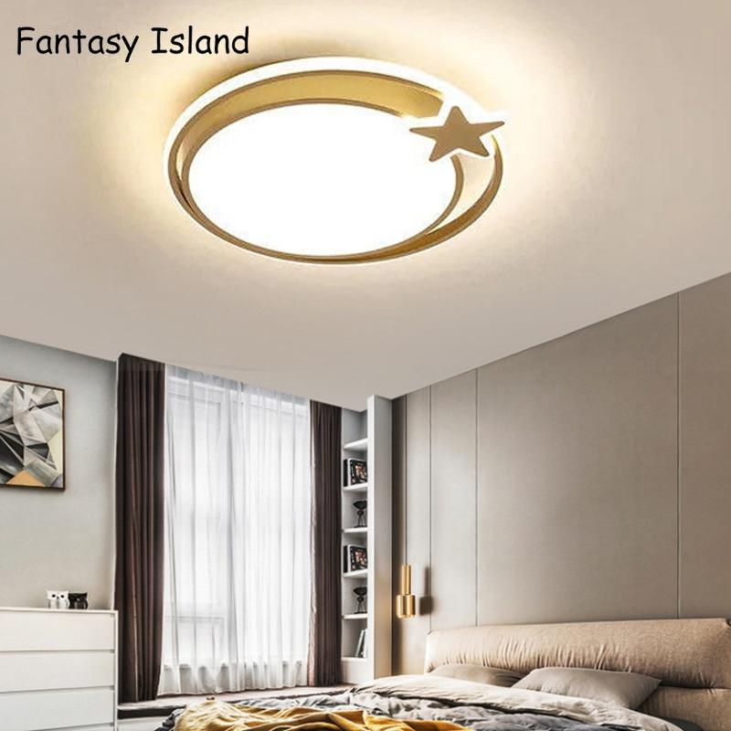 LED ساحة أضواء السقف المستديرة لغرفة المعيشة غرفة الطعام المطبخ غرفة نوم الذهبي الإبداعية مصابيح السقف تركيبات إضاءة داخلية