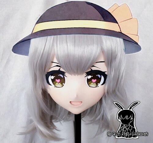 (Lapin 16) résine Crossdress jolie fille tête Lolita poupée masque dessin animé Anime Komeiji Koishi Cosplay Kigurumi masque crosscommode
