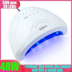 Lampe Für Nägel SUNone 48W Nagel Trockner UV LED Nagel Lampe Gel Curing Lampe mit Boden Timer LCD display Lampe für Nagel Trockner