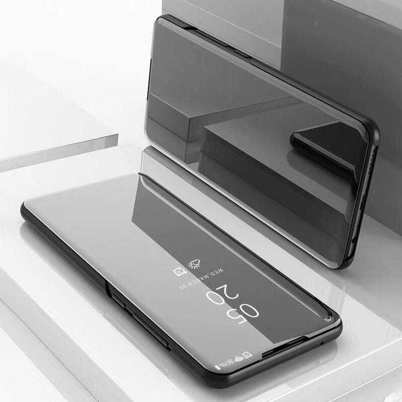Oppo Realme X50 funda con tapa con espejo retrovisor RealmeX50 Funda de cuero para Oppo Realme X50 Real Me X 50 X50 bolsas de teléfono
