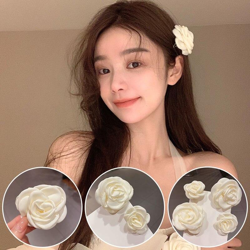 Заколка-для-волос-с-белыми-розами-Женская-элегантный-зажим-для-волос-в-богемном-стиле-свадебный-аксессуар-1-шт
