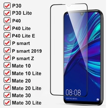 11D Tempered Glass For Huawei P30 P40 Lite e P Smart Z 2019 Safety Screen Protector Mate 30 20 10 Li