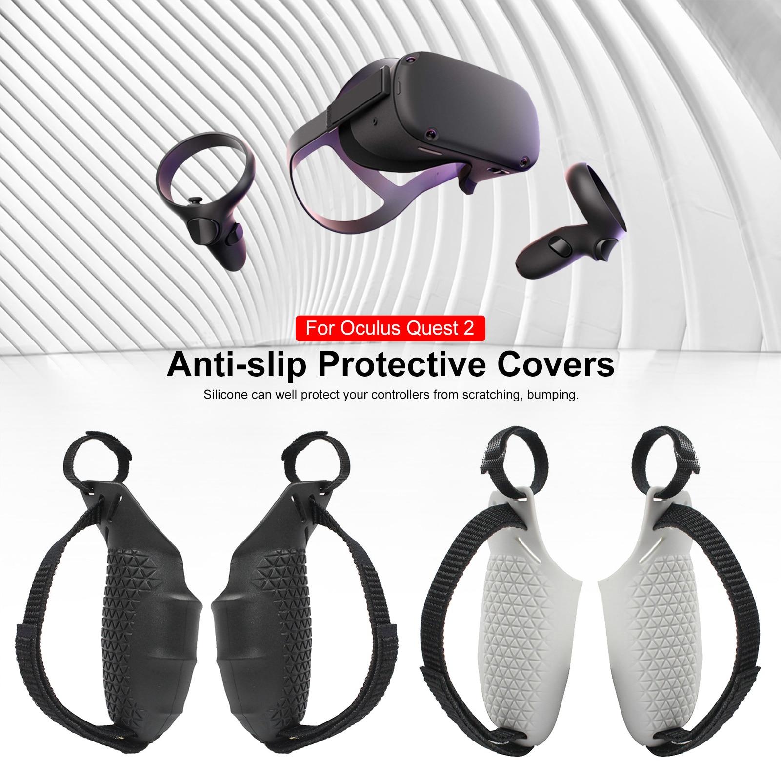 Suitable For Oculus Quest 2 VR Anti-drop Sweat-resistant Touch Controller Grip Cover Case controller adjustable knuckle straps for oculus quest rift s vr touch controller grip accessories