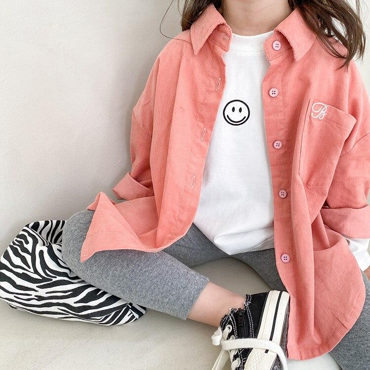 8975 camisa de veludo fino das criancas casaco de lapela 2021 outono coreano menino