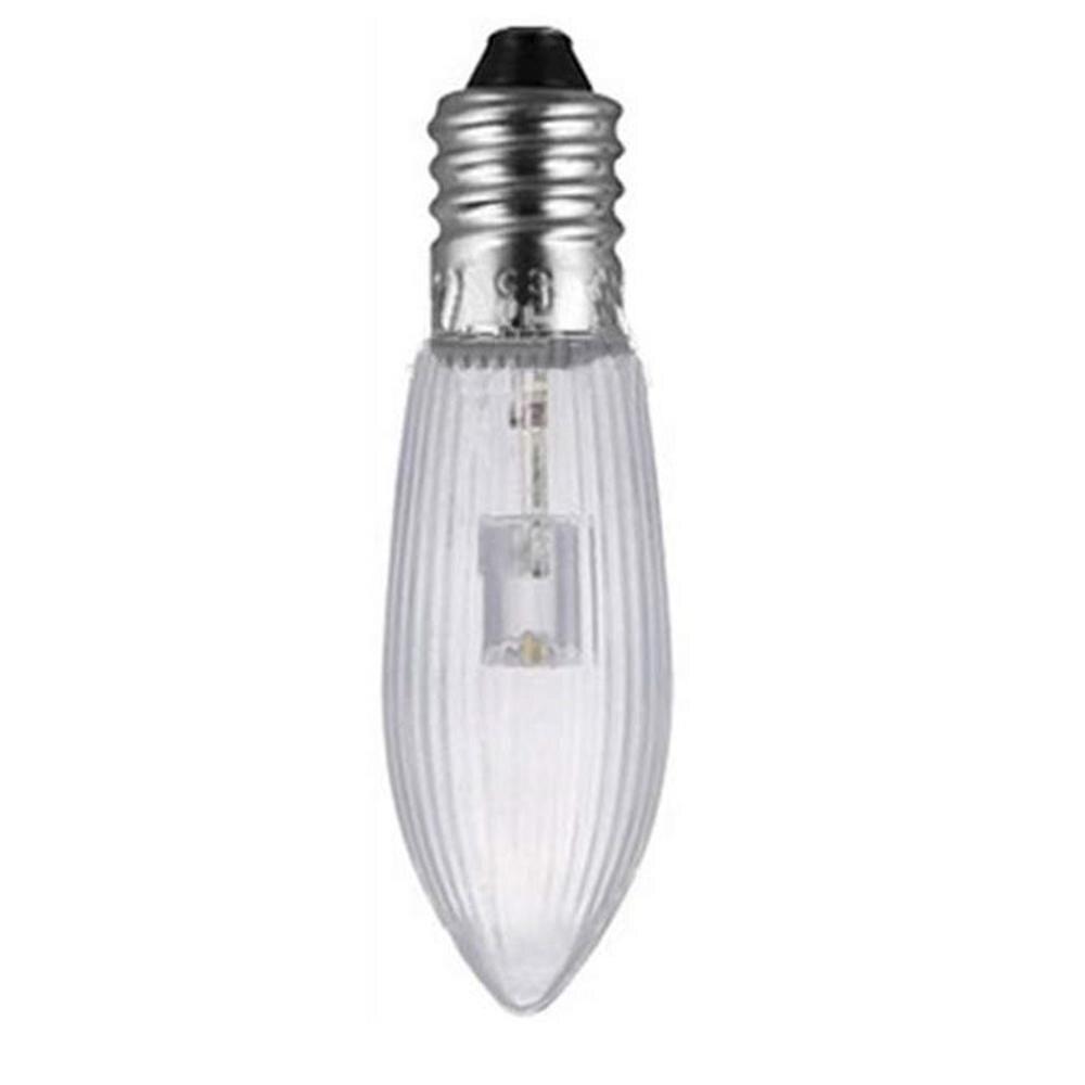 Bloco de 10 e10 conduziu a lâmpada de substituição lâmpada de vela para correntes de luz 10 v 55 v ac