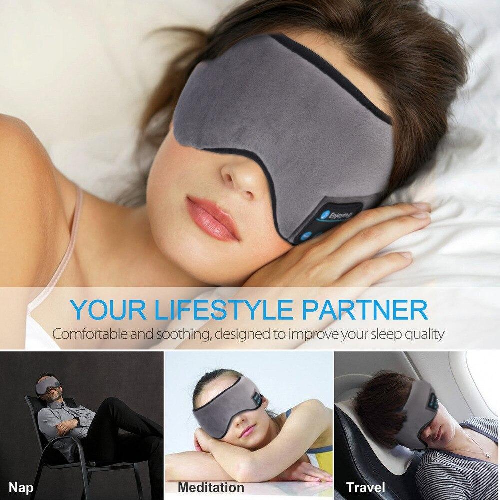 Bluetooth Earphone Sleep Mask  Soft Headphone For Listenting Music Answering Phone 5.0 Wireless Stereo Headband Sleeping mask