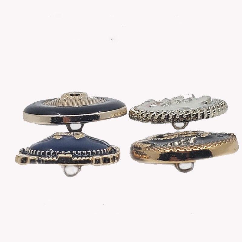 10 Uds botones de moda de colores mixtos para equipaje falda ropa abrigo Retro Vintage metal botón Ropa Accesorios de costura