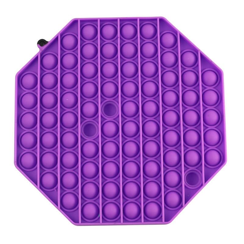 Square Popsits Bubble Fidget Toys Big Size Silicone Stress Reliever Toy Kids Adult Squeeze Sensory Toy Fidget Toys Dropship enlarge