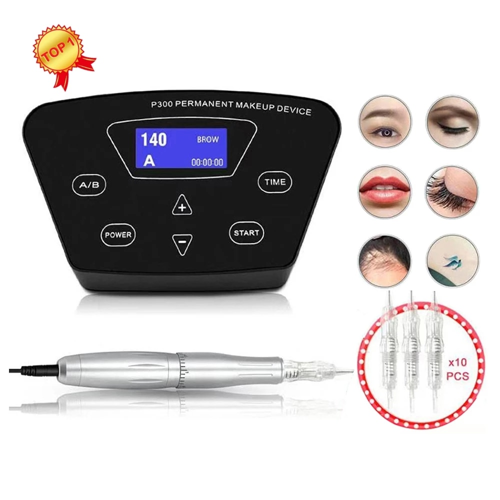 Biomaser Professional Tattoo Machine Rotary Pen For Permanent Makeup Eyebrow Lip Microblading DIY Kit With Needle