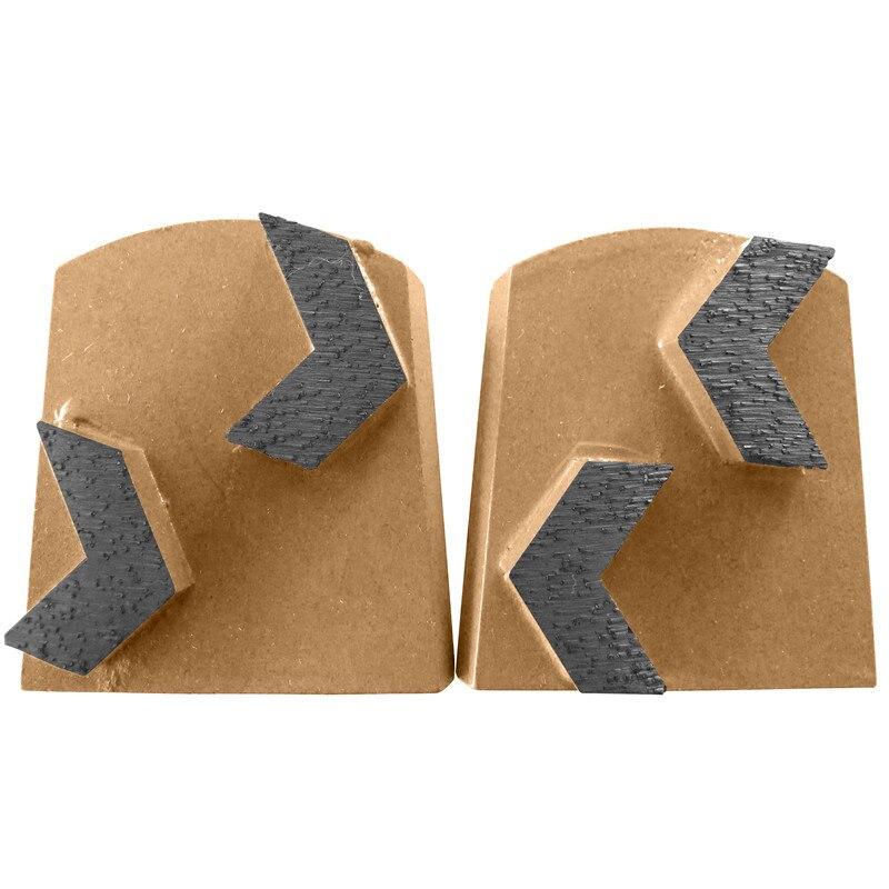 Concrete Grinding Shoes Diamond Grinding Plate Metal Segment Grit Bond Grinding Heads For Concrete Floor 9PCS Free Shipping