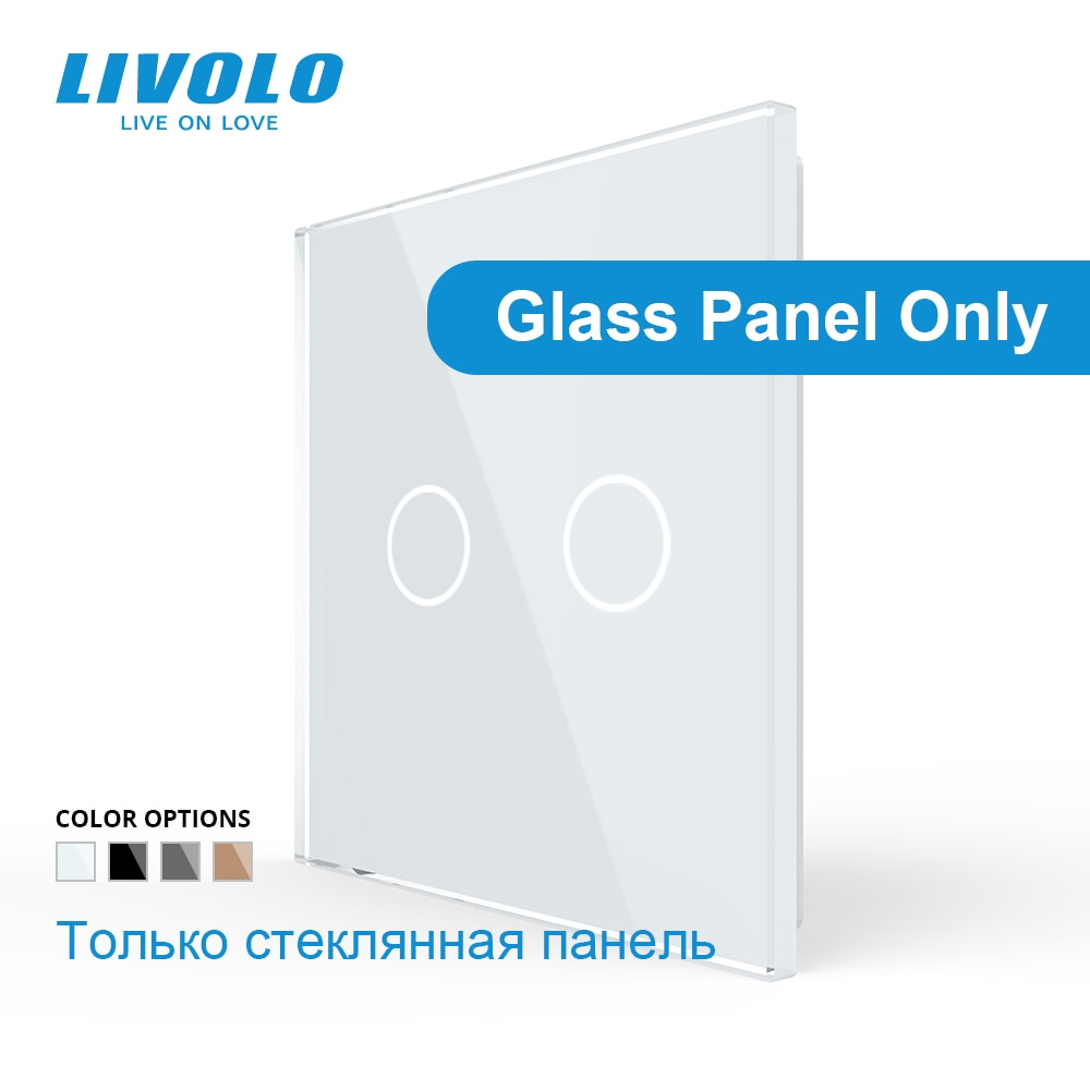 AliExpress - Livolo Luxury White Pearl Crystal Glass, EU standard, Single Glass Panel For 2 Gang  Wall Touch Switch,VL-C7-C2-11 (4 Colors)