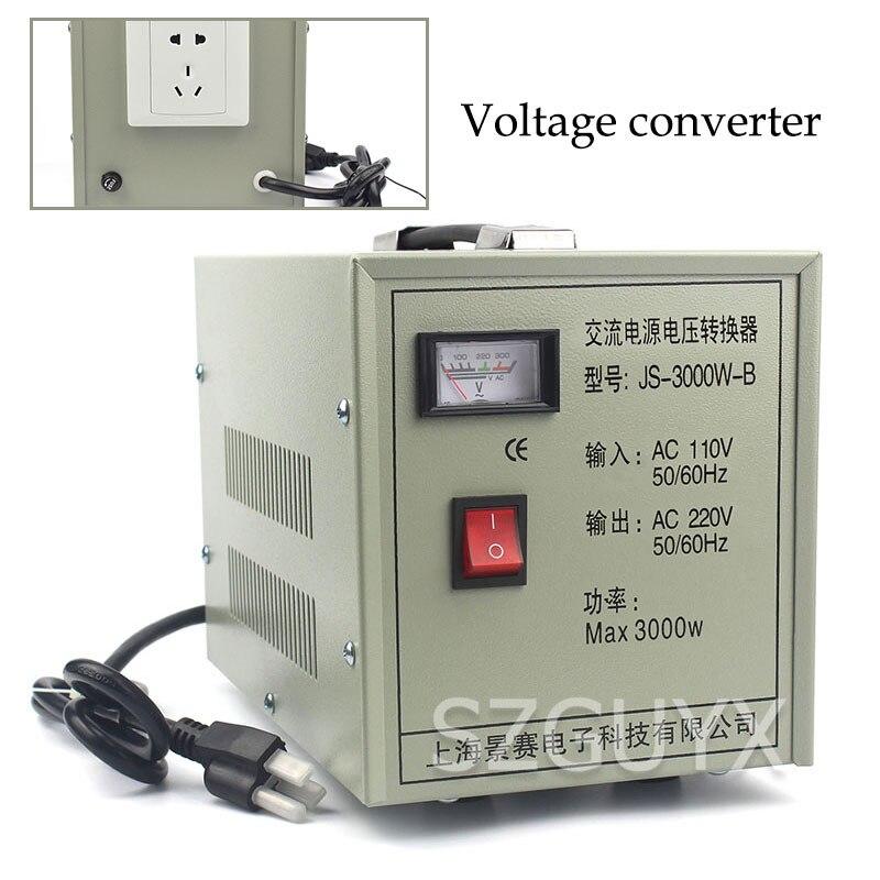 Convertidor de Voltaje de potencia CA de 3000W, 110v a 220V, convertidor de potencia de cobre aplicable a viajes en el extranjero