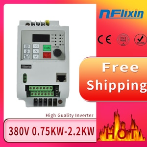 VFD 0.75KW-4KW Variable Frequency Drive 3 Phase Speed Controller Inverter Motor VFD Inverter 380V