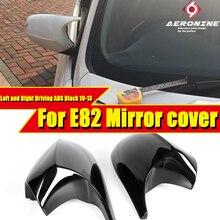 Capuchons de protection pour miroir arrière   Style M noir brillant, pour BMW série 1 E82 coupé 11, rechange 2-pièces 2010-13