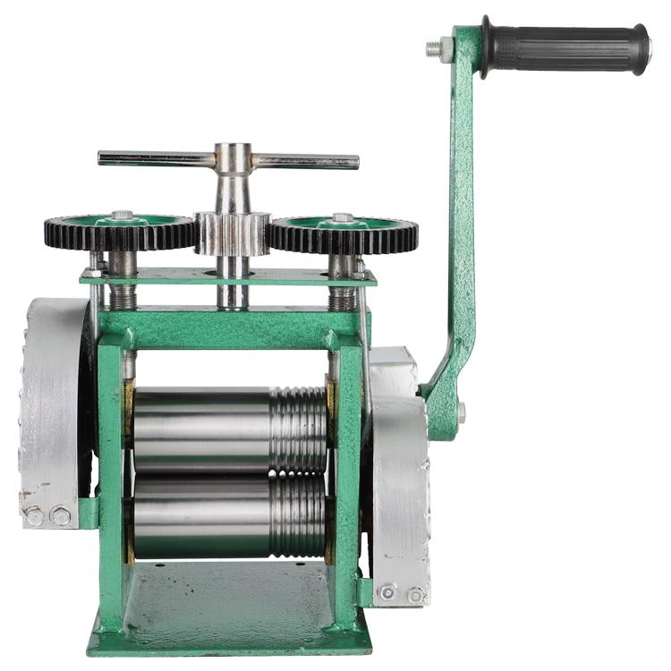 Квадратная ручная мини-Золотая прокатная мельница, ювелирная прокатная мельница с максимальным отверстием 0-5 мм