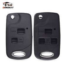 Dandkey 2/3 кнопки дистанционного Fob модифицированный флип чехол для ключа для Toyota Corolla Yaris Carina Cruiser Camry Avensis чехол для автомобильного ключа
